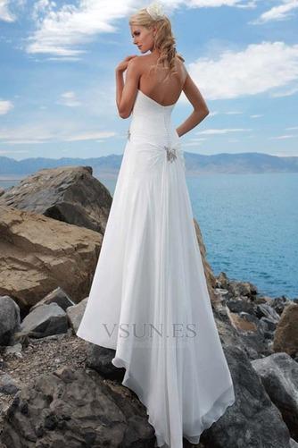 Vestido de novia para boda en la playa Escote con abertura Verano Romántico - Página 2