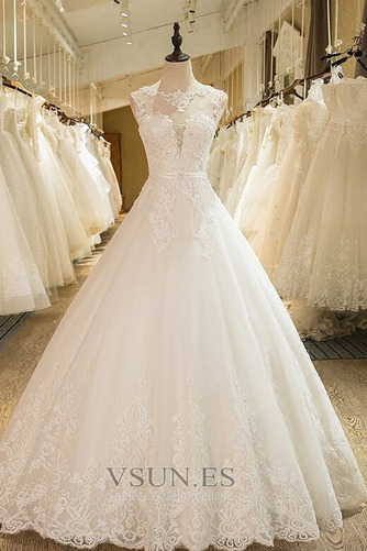 Vestido de novia Falta Iglesia Hasta el suelo Encaje Corte princesa - Página 1