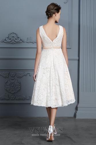 Vestido de novia Playa Natural Falta Escote en V Arco Acentuado Cremallera - Página 2