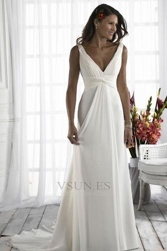 Vestido de novia Diosa vestido de novia Escote en V Plata Imperio Imperio Cintura - Página 1