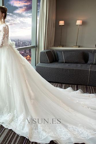 Vestido de novia Encaje Satén primavera Corte-A Formal Camiseta - Página 3