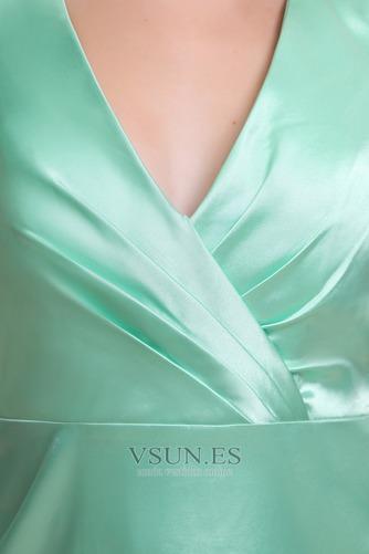 Vestido de dama de honor Corte-A Hasta la Rodilla Natural Satén Espalda medio descubierto - Página 5