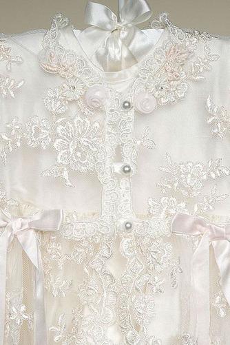 Vestido de Bautizo Joya Corte princesa Cola Barriba Recatada Imperio Cintura - Página 4