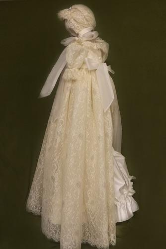 Vestido de Bautizo Imperio Cintura Joya Corte princesa primavera Abalorio - Página 2