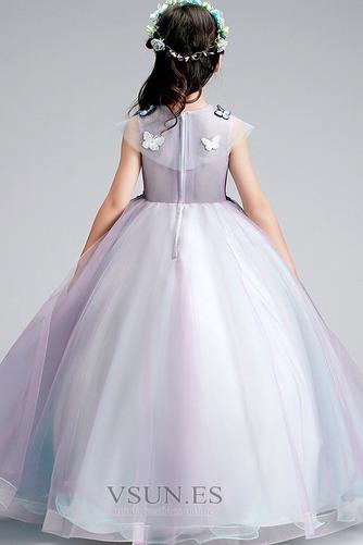 Vestido niña ceremonia Sin mangas Corte-A primavera Joya Natural Formal - Página 2