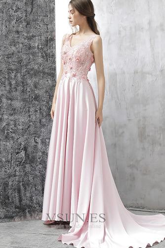 Vestido de fiesta Corte-A Frontal Dividida Rosetón Acentuado Formal Satén - Página 4