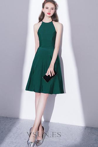 Vestido de cóctel Elegante Falta Corte-A Natural Sin mangas Hasta la Rodilla - Página 1