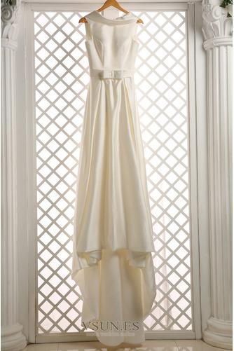 Vestido de novia Sin mangas Lazos Otoño Corte-A Natural Iglesia - Página 6