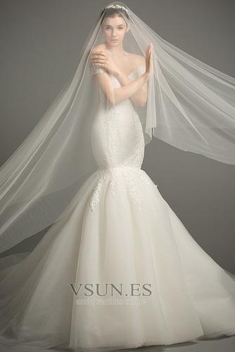 Vestido de novia Corte Sirena tul Iglesia Formal Falta Cordón - Página 4