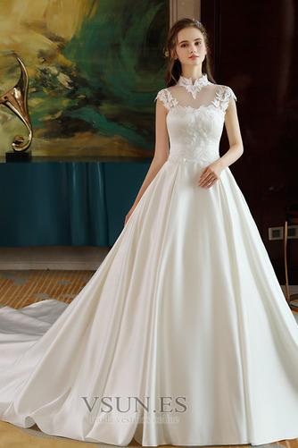 Vestido de novia Capa de encaje Encaje Apliques Escote con cuello Alto - Página 1