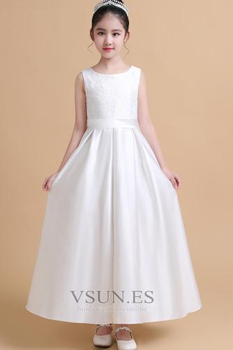 Vestido niña ceremonia Satén Joya Elegante primavera Hasta el Tobillo Encaje - Página 3