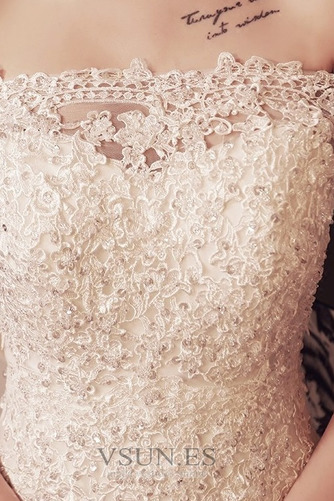 Vestido de novia Corte Sirena Encaje Iglesia Verano Escote con Hombros caídos - Página 5