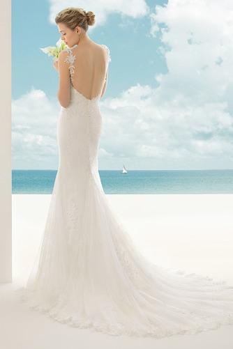 Vestido de novia Corte Sirena Escote de Tirantes Espaguetis largo Encaje - Página 2