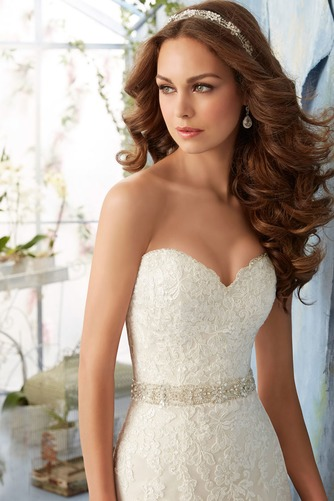 Vestido de novia Elegante primavera Corte-A Sala Escote Corazón Apliques - Página 3