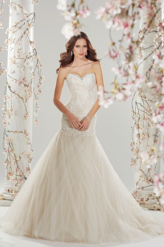 Vestido de novia Corte Sirena Sala Cristal largo Natural Sin mangas - Página 1