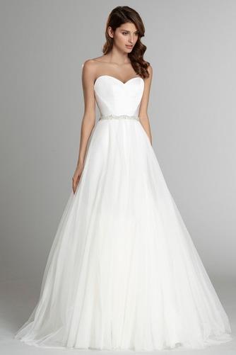 Vestido de novia Sin mangas largo Espalda Descubierta Natural Satén - Página 2