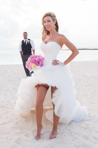 Vestido de novia Asimétrico Dobladillo Espalda Descubierta Escote Corazón - Página 1
