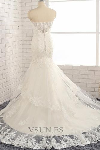 Vestido de novia Natural Apliques Capa de encaje Invierno tul Moderno - Página 4