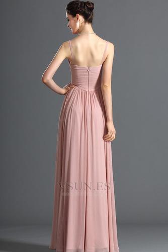 Vestido de noche Blusa plisada Plisado Cremallera Corte-A Sin mangas - Página 6