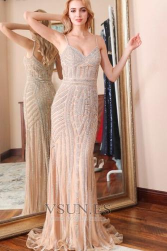 Vestido de noche Colores Escote de Tirantes Espaguetis Espalda medio descubierto - Página 11