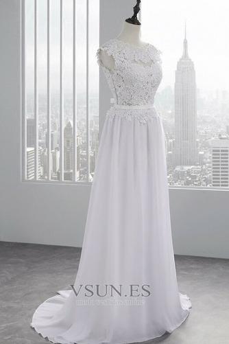 Vestido de novia Encaje Hasta el suelo Joya Fuera de casa Verano Natural - Página 4