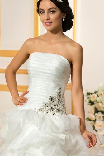 Vestido de novia Sin tirantes Triángulo Invertido Asimètrico Espalda Descubierta - Página 4