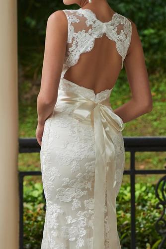 Vestido de novia Encaje Espalda medio descubierto Natural Fuera de casa - Página 5