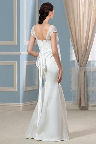 Vestido de novia Escote Cuadrado Imperio Cintura Lazos Playa Hasta el suelo - Página 2
