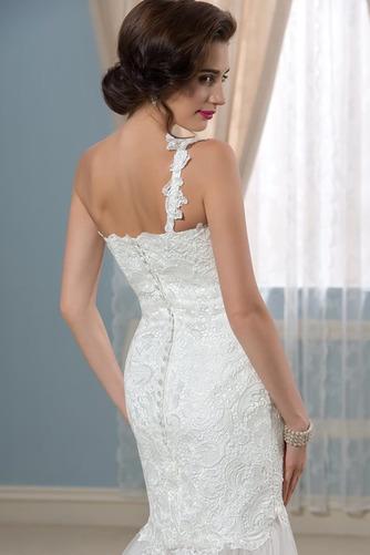 Vestido de novia largo Natural Verano Un sólo hombro Corte Recto Espalda Descubierta - Página 6