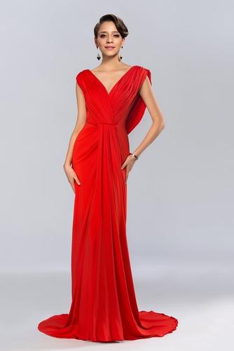 Vestido de noche Espalda Descubierta Blusa plisada Corte-A Elegante - Página 2