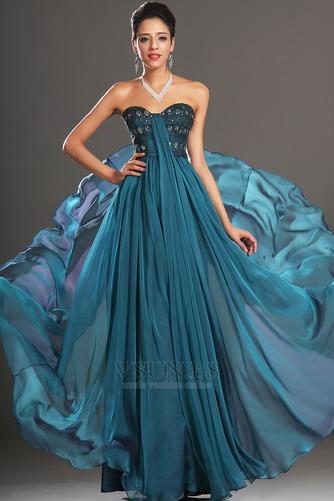 Vestido de noche 2015 Espalda medio descubierto Cola Barriba Imperio - Página 2