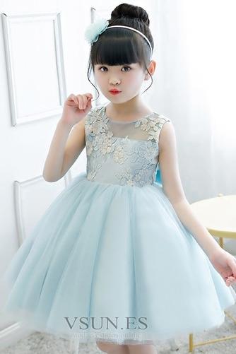 Vestido niña ceremonia Natural Joya Otoño Hasta la Rodilla Lazos Arco Acentuado - Página 3
