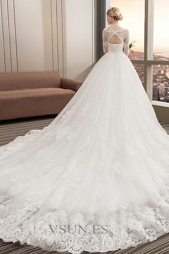 Vestido de novia Invierno Manga de longitud 3/4 Corte-A Cola Catedral - Página 4