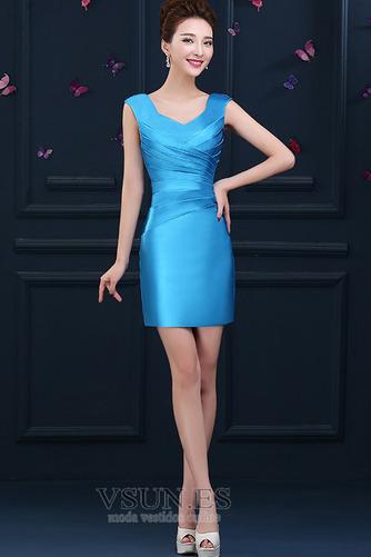 Vestido de cóctel primavera Falta Blusa plisada Glamouroso Plisado Cremallera - Página 6