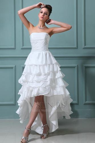 Vestido de novia Alto Bajo Cascada de volantes Fuera de casa Moderno - Página 1