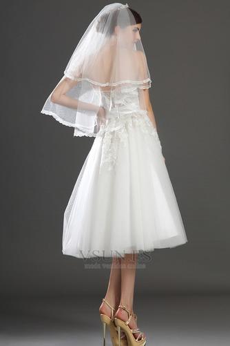 Vestido de novia Romántico tul Blanco Hinchado Abalorio Natural - Página 8