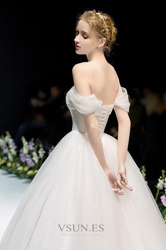 Vestido de novia Fuera de casa Drapeado Corte-A Hasta el suelo Sin mangas - Página 4