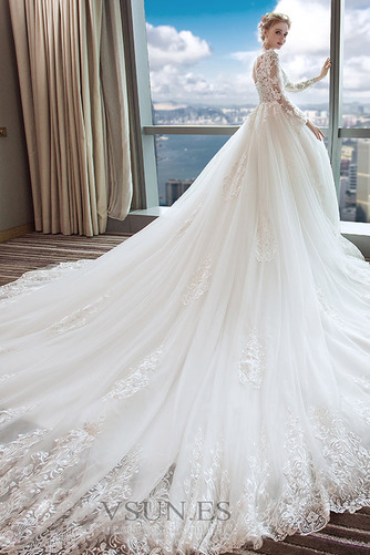Vestido de novia Manga larga largo Mangas Illusion Invierno Natural - Página 4