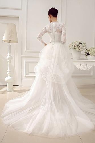 Vestido de novia Clasicos Otoño Asimètrico Cristal largo Cremallera - Página 2