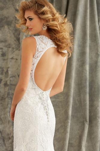 Vestido de novia primavera Natural Cola Capilla Corte Sirena Cristal - Página 6