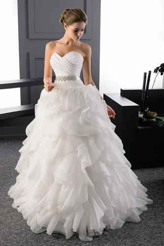Vestido de novia Escote Corazón largo Organza primavera Formal Escalonado - Página 1