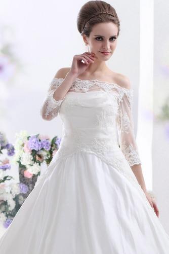 Vestido de novia Clasicos Cordón Mangas Illusion Sala Escote con Hombros caídos - Página 3