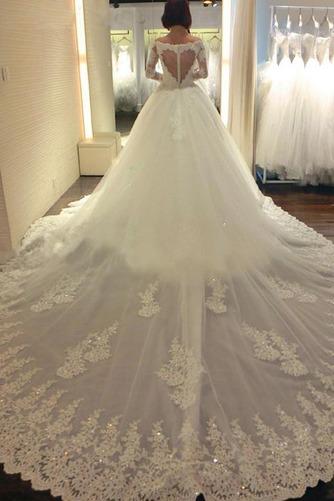 Vestido de novia Manga larga Cremallera Cola Real Bola Espectaculares - Página 1