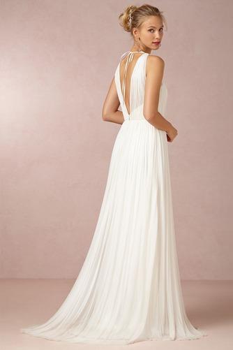 Vestido de novia Sencillo Sin mangas Espalda medio descubierto Fajas - Página 2