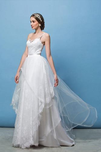 Vestido de novia Corte Recto Espalda Descubierta Glamouroso Escote de Tirantes Espaguetis - Página 3