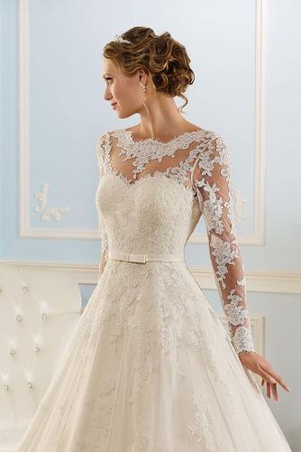 Vestido de novia Corte princesa Espalda medio descubierto Encaje Natural - Página 2