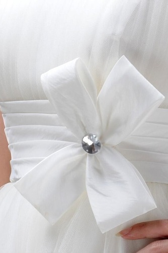 Vestido de novia Sin tirantes Verano Cola Barriba Asimètrico Fuera de casa - Página 4