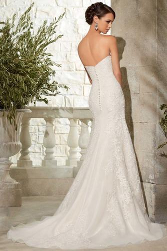 Vestido de novia Apliques Otoño Escote Corazón Encaje Sala Moderno - Página 2