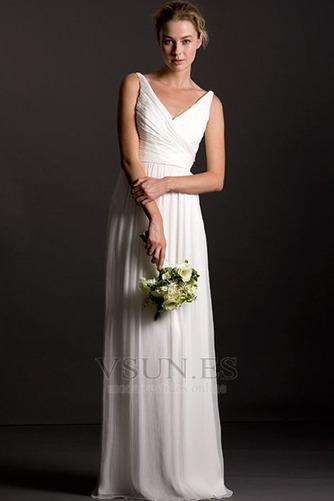Vestido de dama de honor Playa Corte Recto Diosa vestido de novia gris claro - Página 1