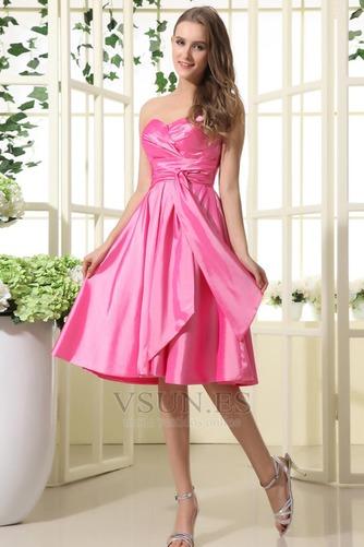Vestido de dama de honor Oscilación 2015 Corte-A Volantes Adorno Corto Verano - Página 1